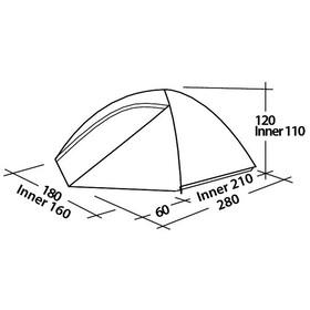 Easy Camp Meteor 300 Tent yellow/orange